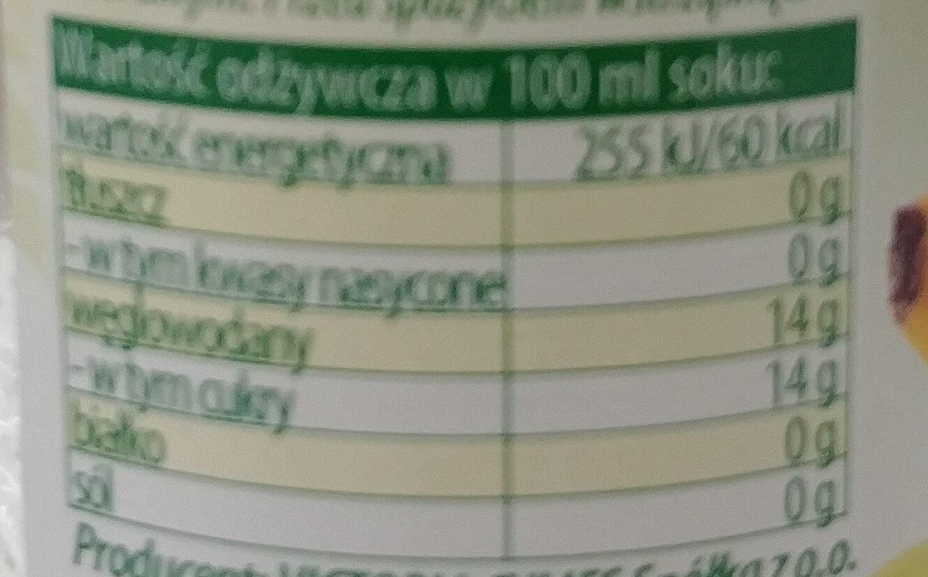 Sok wieloowocowy - Wartości odżywcze