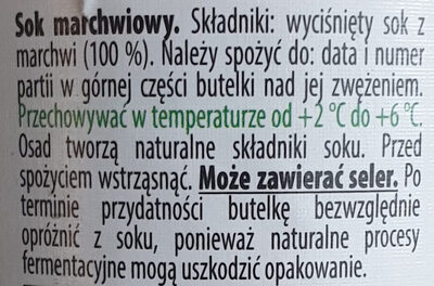 Świeży sok marchewkowy - Ingredienti - pl