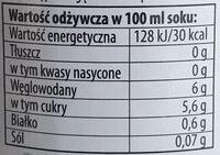 Świeży sok marchewkowy - Valori nutrizionali - pl