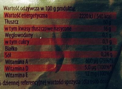 Miks o zmniejszonej zawartości tłuszczu - Wartości odżywcze - pl