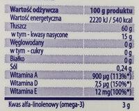 Śniadaniowa wege - Wartości odżywcze - pl