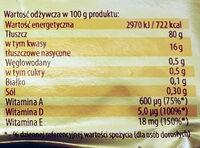 Margaryna Palma - Wartości odżywcze