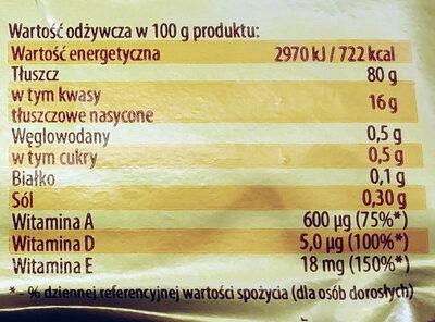 Margaryna Palma - Nutrition facts