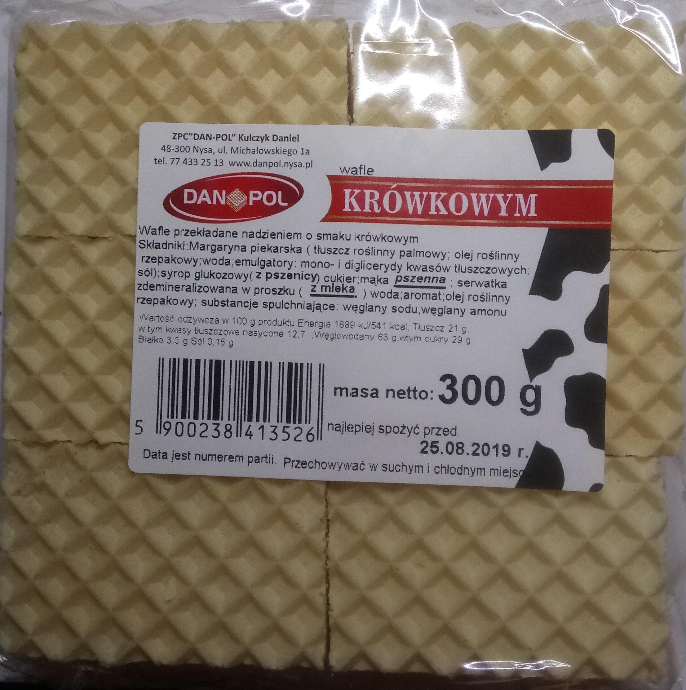 Wafle przekładane nadzieniem o smaku krówkowym - Product - pl