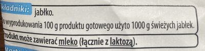 Suszone plasterki jabłka - Ingrédients - pl