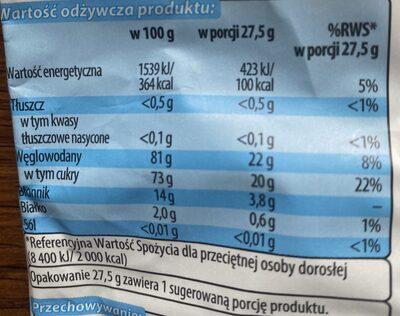 Suszone plasterki jabłka - Informations nutritionnelles - pl