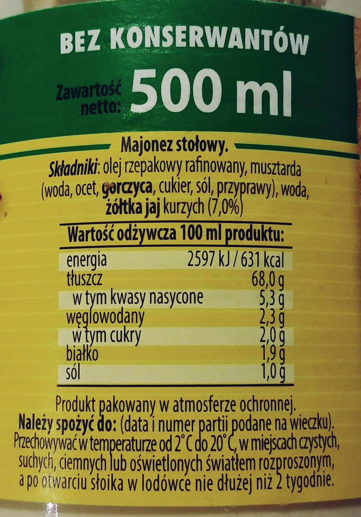 Majonez Kielecki - Ingredients