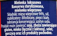 Mielonka luksusowa 94 % mięsa - Ingredients - pl