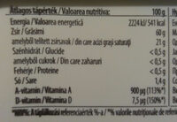 Bords Eve margarin - Informations nutritionnelles - hu
