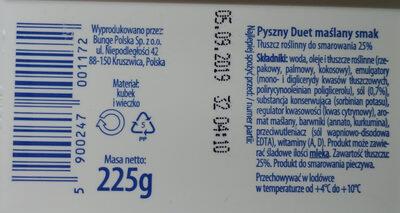Pyszny Duet maślany smak - Ingredients - pl