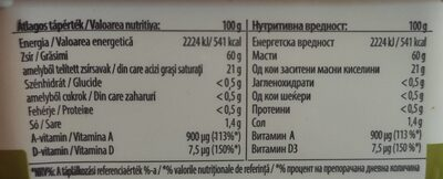 Margarine - Nutrition facts - hu