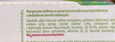 Margaryna roślinna - Składniki - pl
