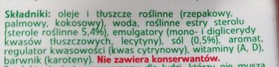Optima Cardio - margaryna roślinna - Składniki - pl