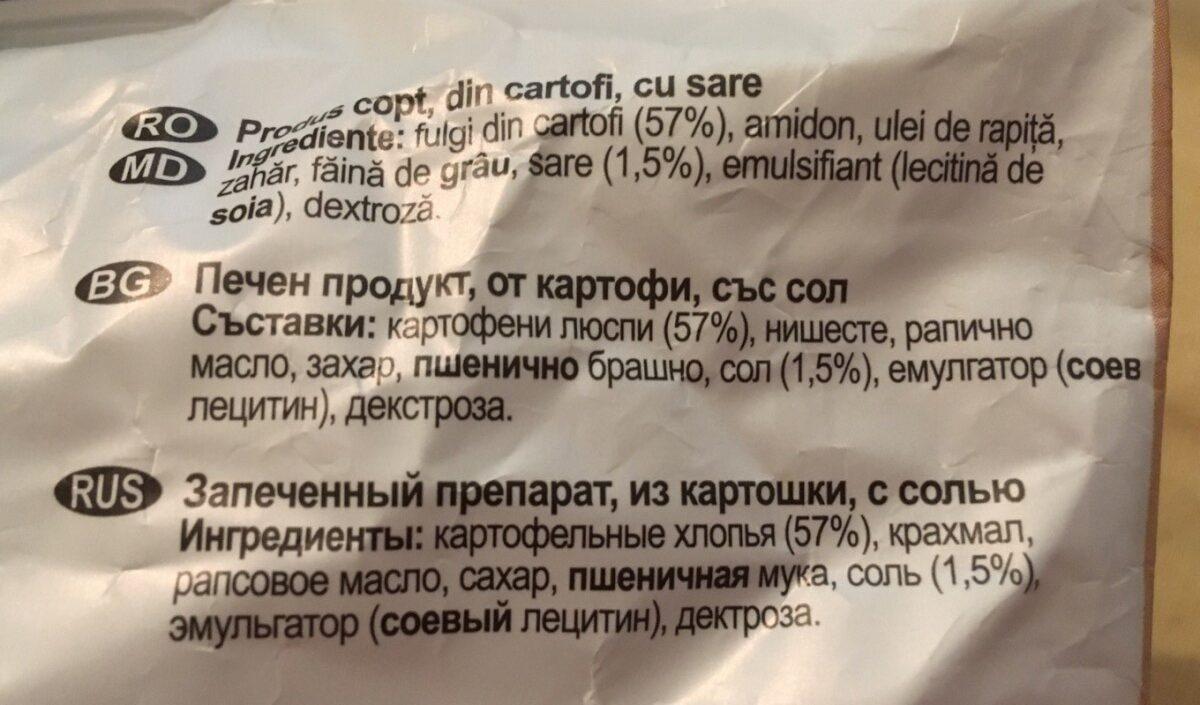 Lay's Rumeniți în cuptor cu sare - Ingrédients - fr