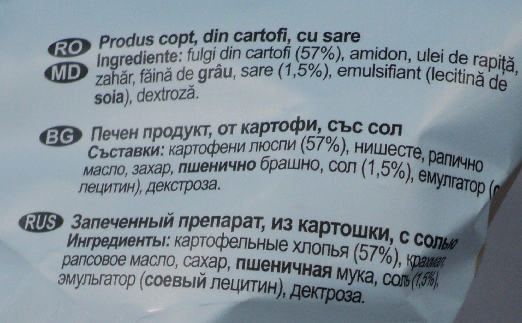 Lay's Rumeniți în cuptor cu sare - Ingredients