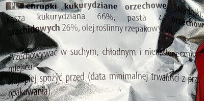Chrupki kukurydziane orzechowe. - Ingrédients - pl