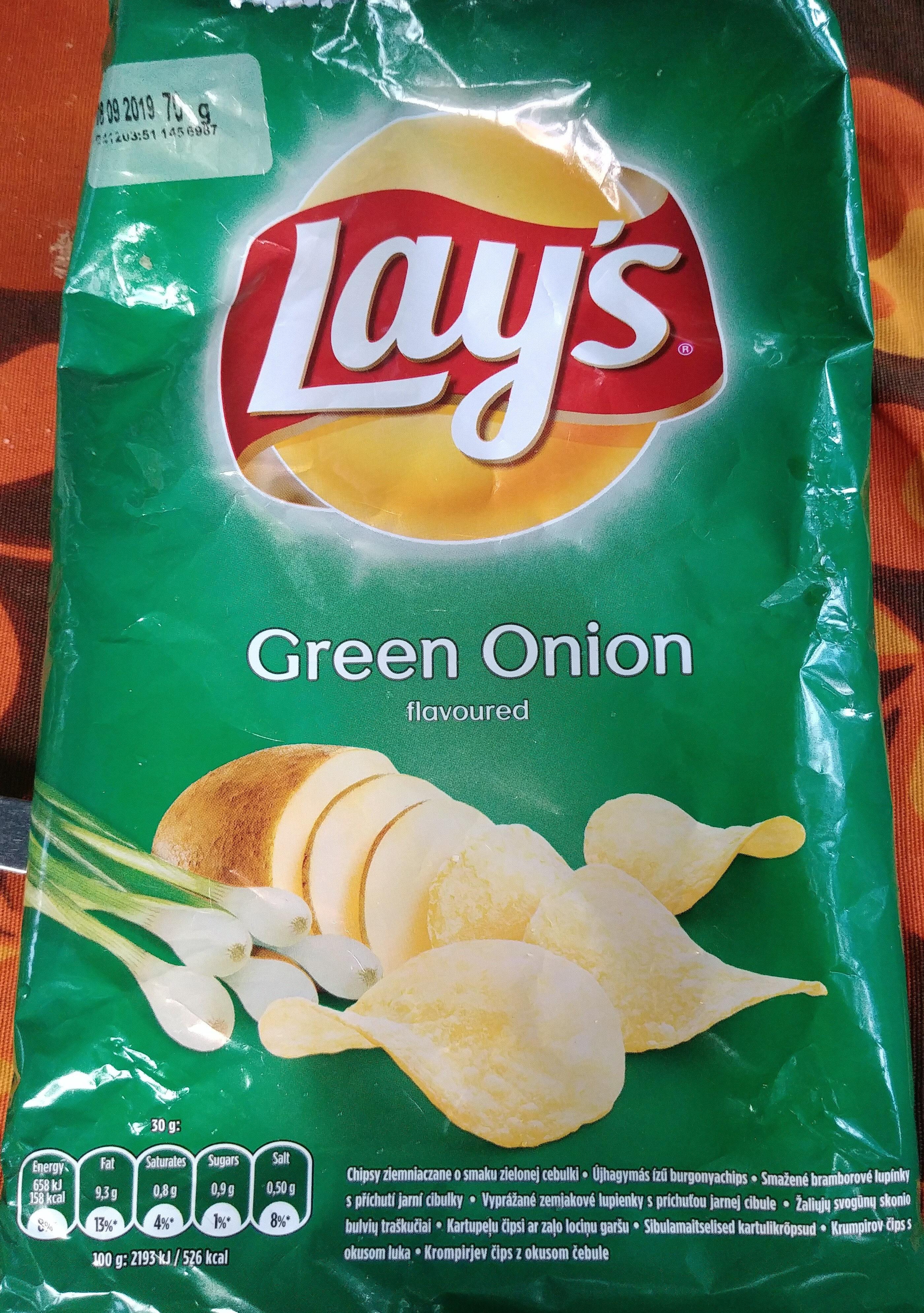 Chipsy ziemniaczane o smaku zielonej cebulki - Produkt - pl