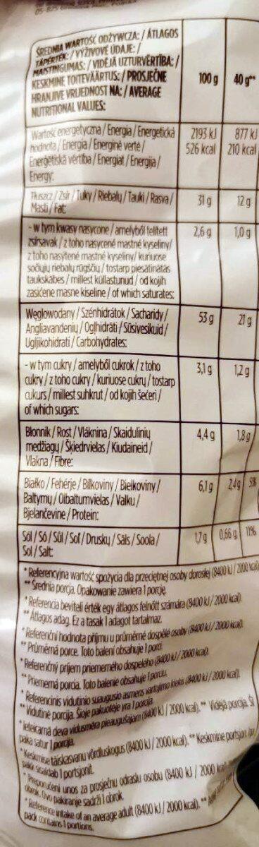 Lays Green Onion - Wartości odżywcze - pl