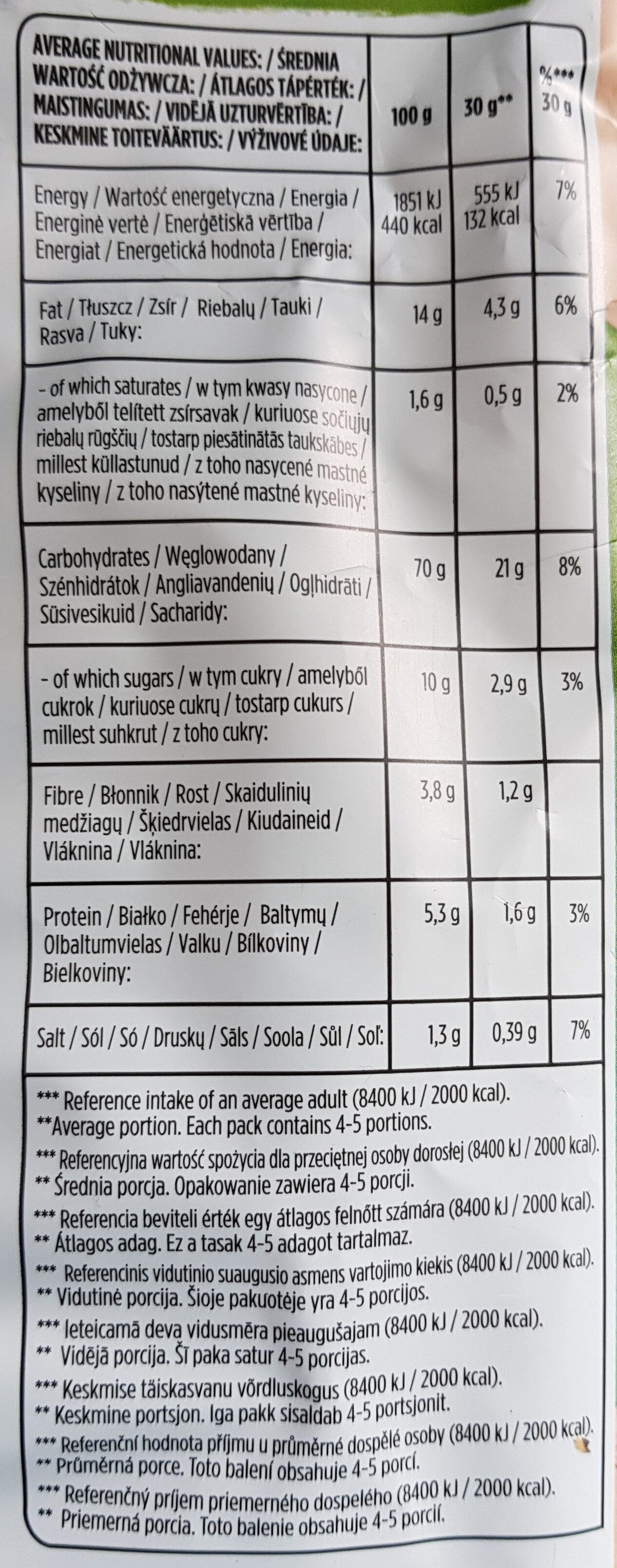 Oven Baked YOGHURT WITH HERBS - Nutrition facts - en