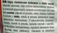 Lays Carbowane - Składniki - pl