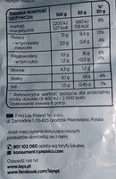 Chipsy ziemniaczane o smaku kurek w sosie - Wartości odżywcze