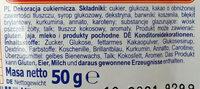 Posypka o smaku owocowo-kakaowym - Składniki - pl