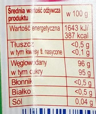 Posypka o smaku owocowo-kakaowym - Wartości odżywcze - pl