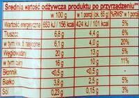 Koncentrat deseru w proszku do przyrządzania na mleku - Voedingswaarden - pl