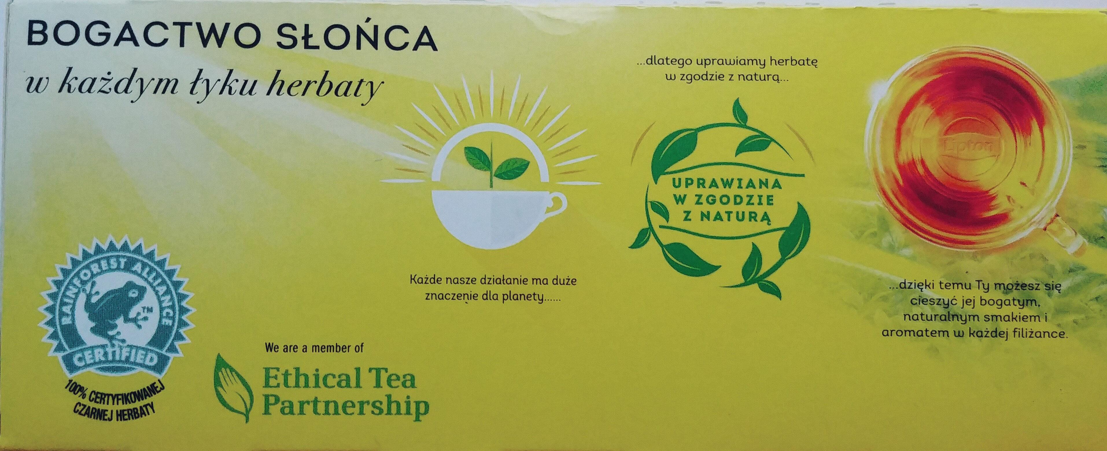 Herbata czarna z naturalnym aromatem - Produkt