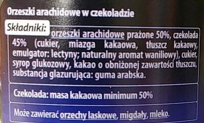 Orzeszki arachidowe w czekoladzie. - Ingrédients - pl