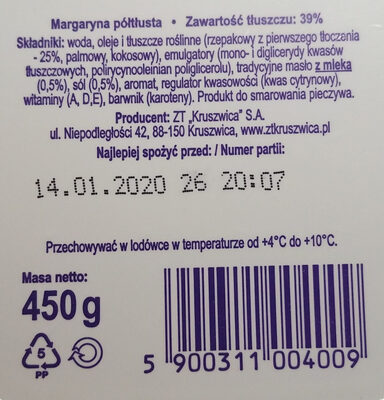 Margaryna półtłusta 39% - Ingredients - pl