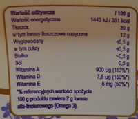 Margaryna półtłusta 39% - Nutrition facts - pl