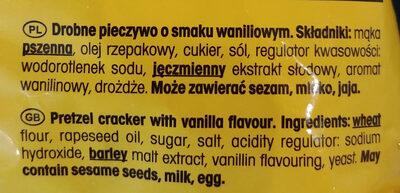 Drobne pieczywo o smaku waniliowym - Składniki - pl