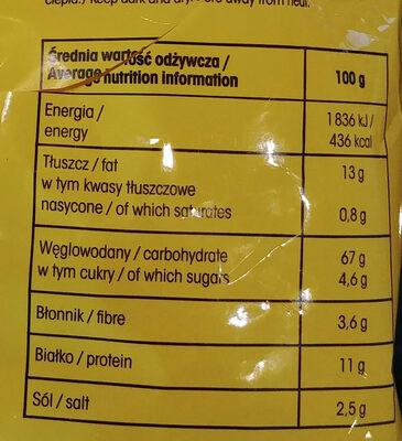 Drobne pieczywo o smaku waniliowym - Wartości odżywcze - pl