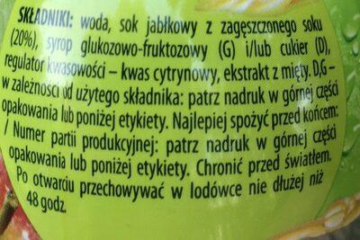 Sok Jablko Mięta - Składniki