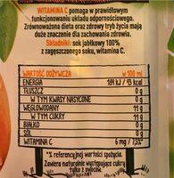 Sok 100% jablko - Wartości odżywcze - pl