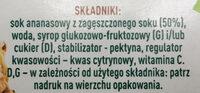 Tymbark Nektar Ananas - Składniki - pl