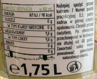 Napój jabłkowy - Nutrition facts - pl