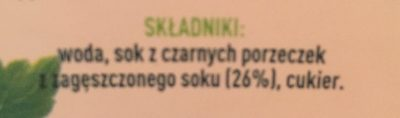 Tymbark - Czarna Porzeczka - Składniki - fr