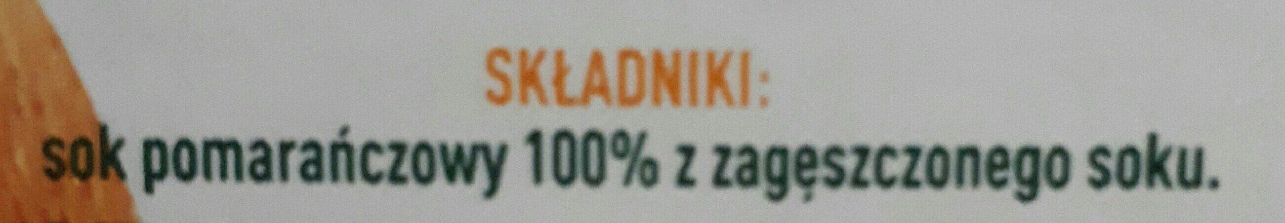 Tymbark sok 100% Pomarańcza - Składniki