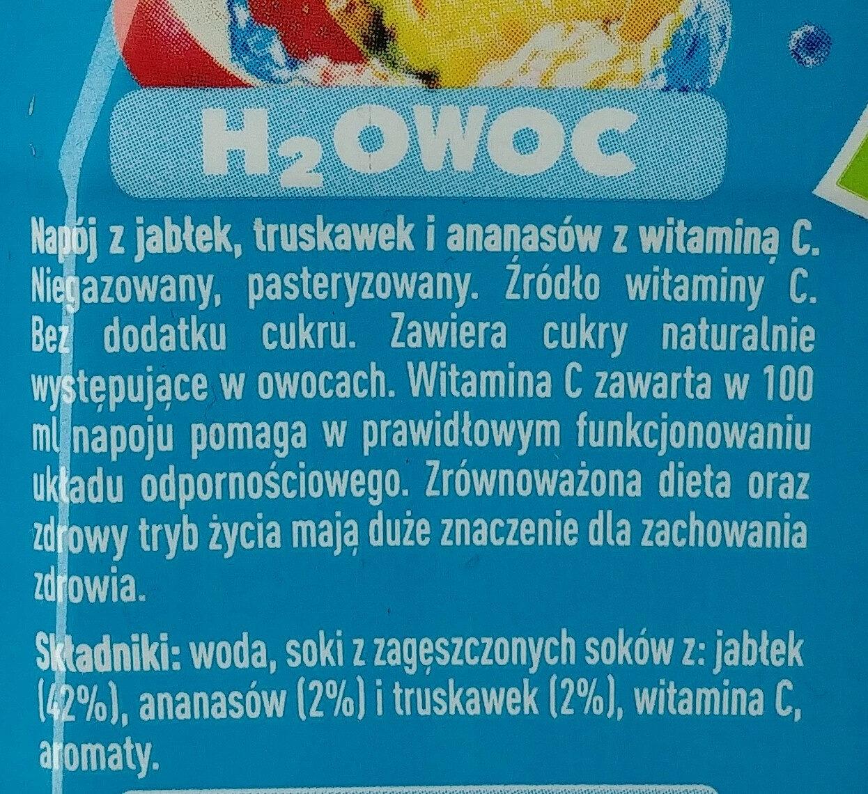 Napój z jabłek, truskawek i ananasów z witaminą C. - Składniki - pl