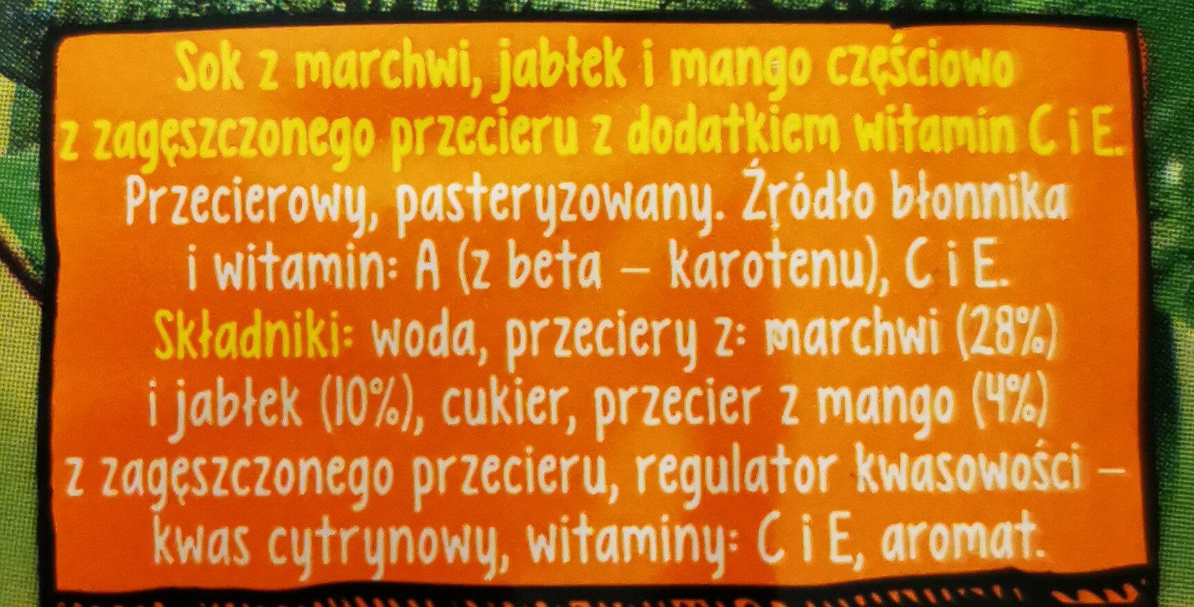 vita MINI mango, marchew, jabłko - Składniki