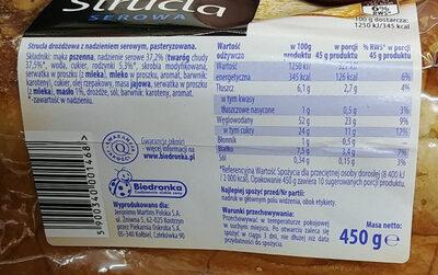 strucla serowa - Składniki - pl