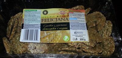 Ciasteczka z ziarnami słonecznika i sezamu oraz siemieniem lnianym - Produkt - pl