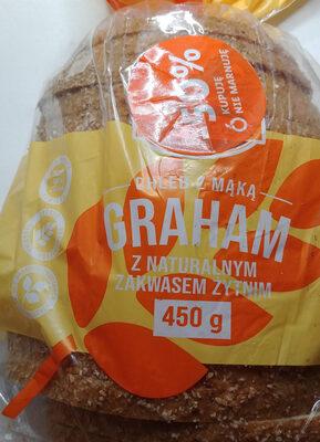 Chleb-pszenno-żytni z mąką pełnoziarnistą graham oraz dodatkiem zakwasu żytniego, krojony. - Produit - pl