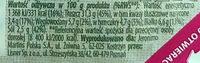 Marynowane, krojone filety śledziowe w sosie czosnkowym z ziołami prowansalskimi. - Wartości odżywcze - pl