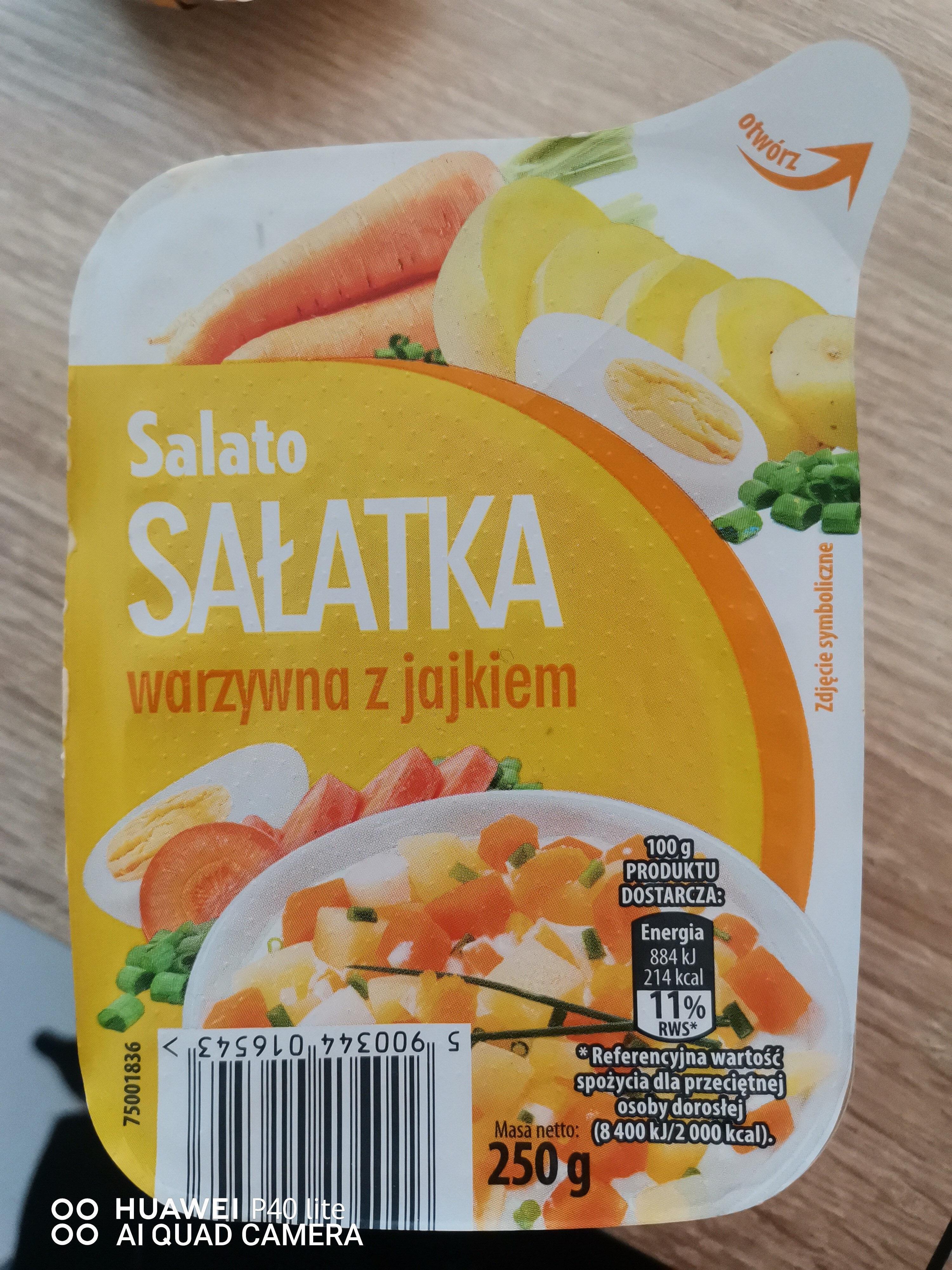 sałatka warzywna z jajkiem - Produkt - pl