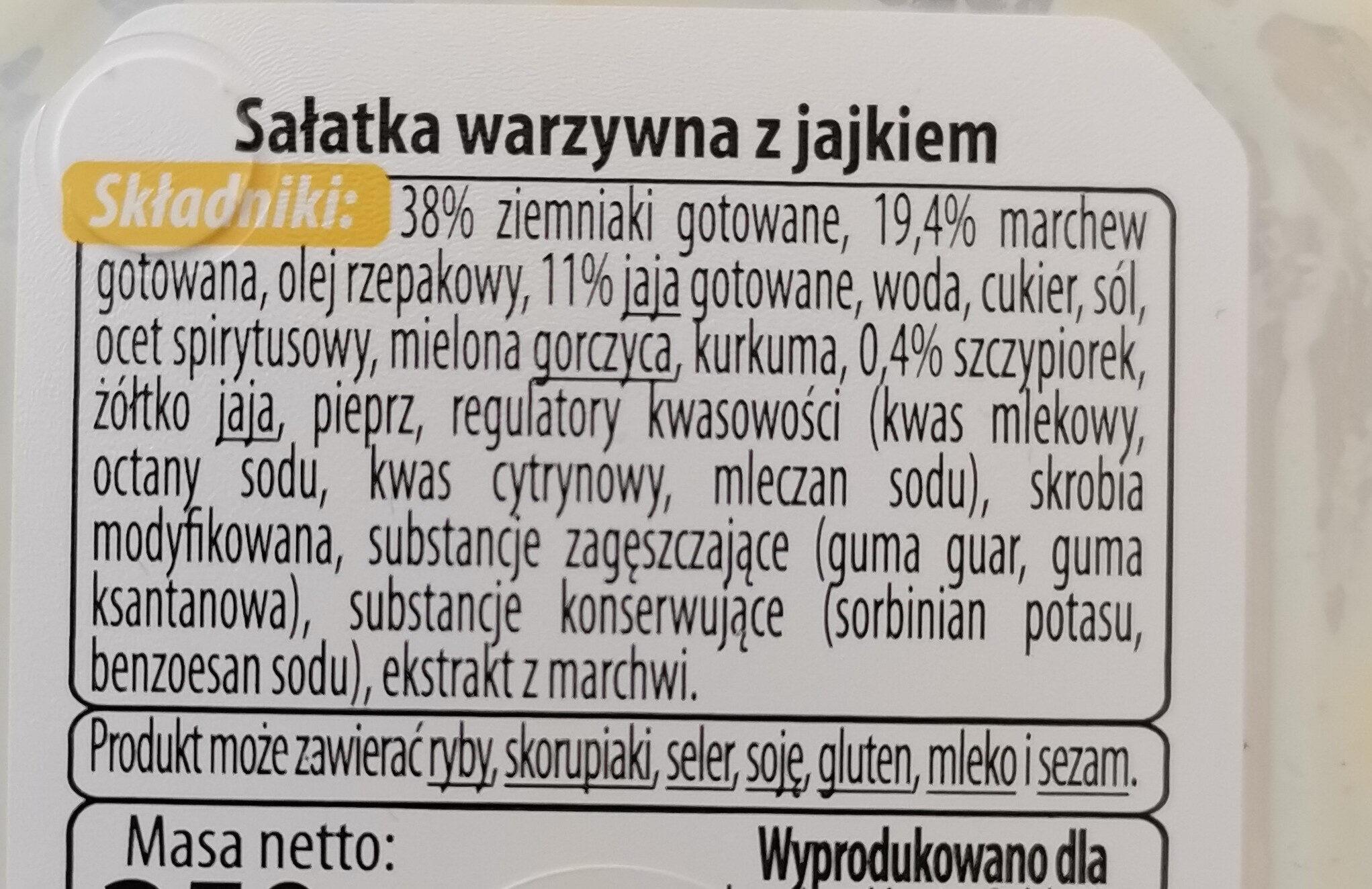 sałatka warzywna z jajkiem - Składniki - pl