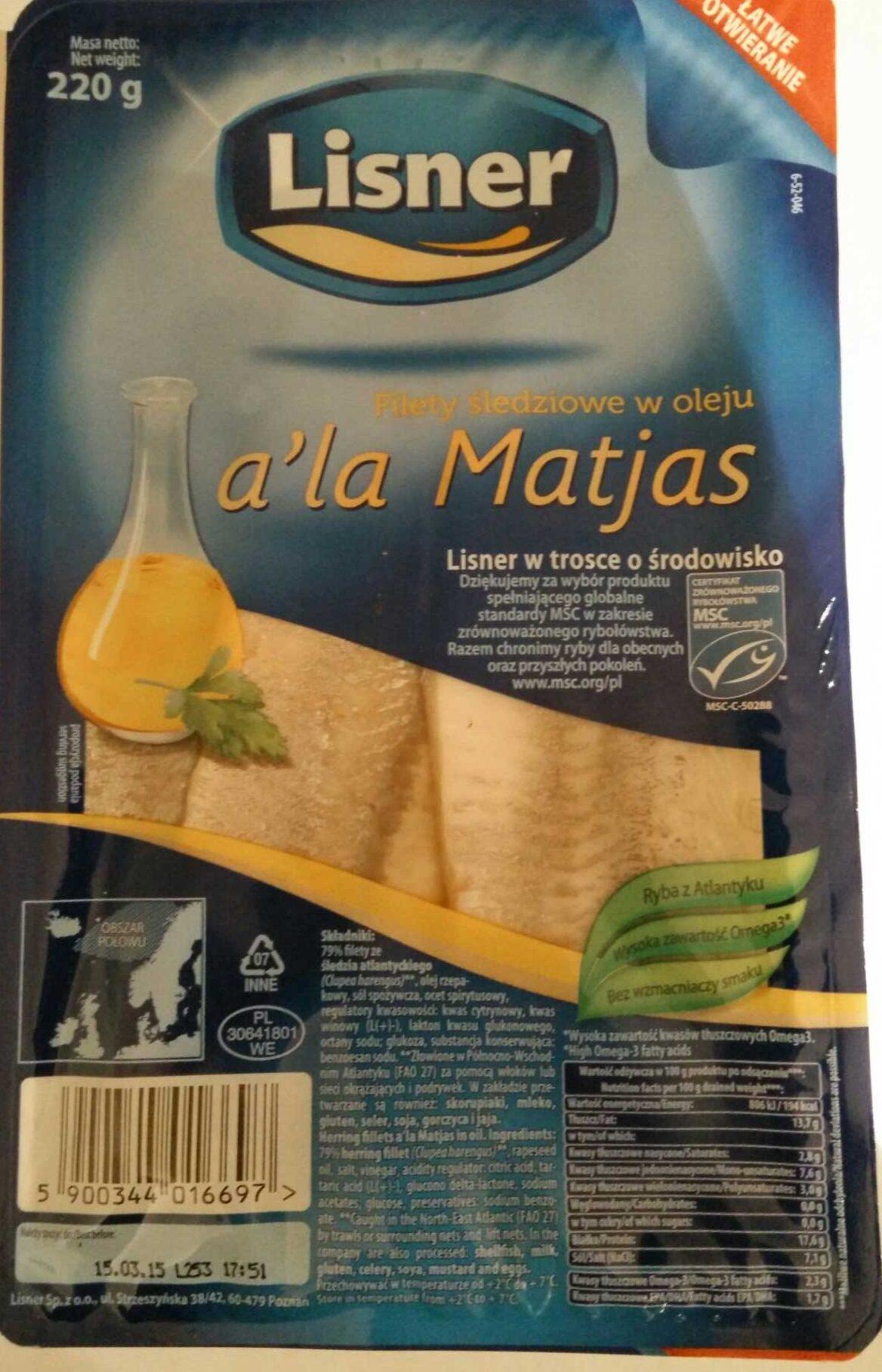 Filety śledziowe w oleju a'la Matjas - Product - pl