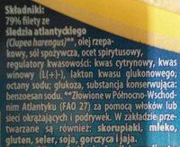 Filety śledziowe w oleju a'la Matjas - Ingrediënten - pl